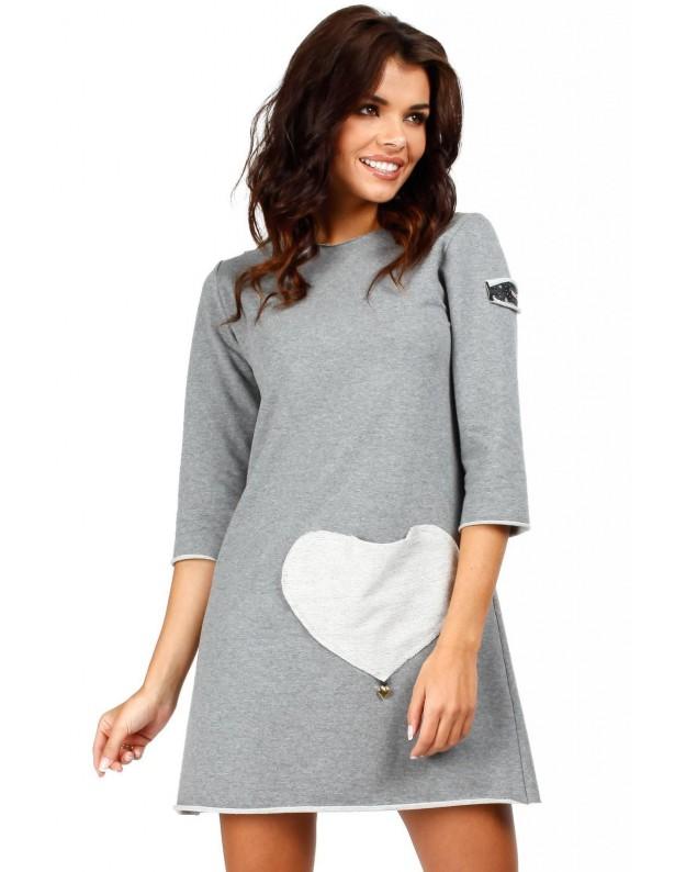 Tunika su širdies formos kišenėle (Pilka)