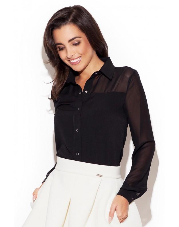 Elegantiški marškinėliai (Juoda)