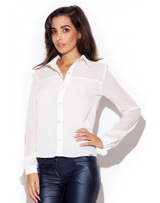 Elegantiški marškinėliai (Nebalintos drobės spalva)