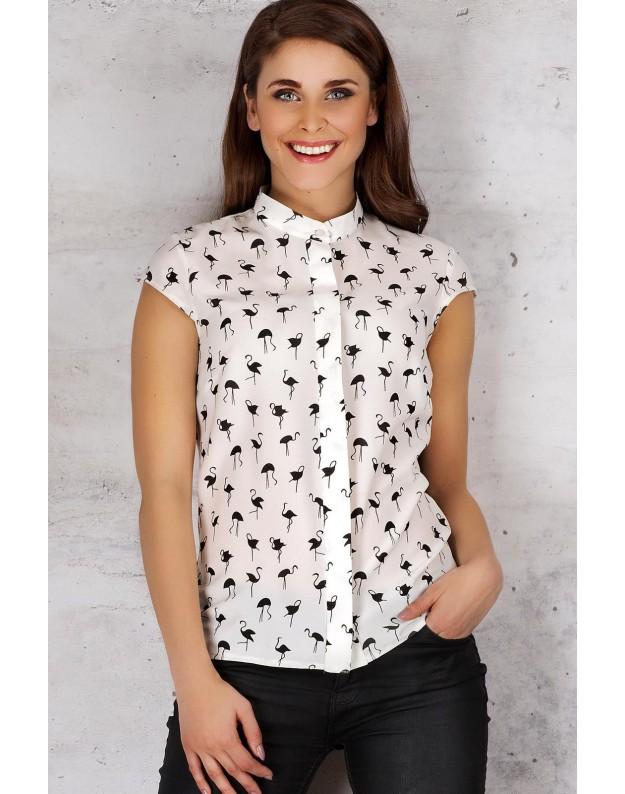 Marškinėliai trumpomis rankovėmis (Nebalintos drobės spalva)