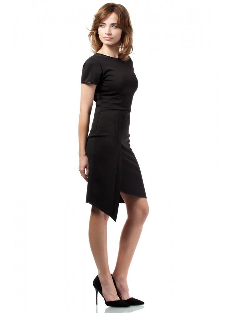 Suknelė su iškirpte nugaroje (Juoda)