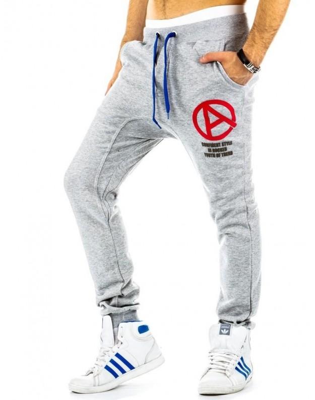 Sportinės kelnės Justinas (Pilkos)