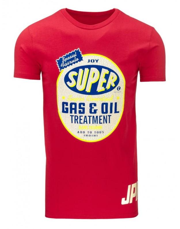 Marškinėliai Gas & Oil (Raudoni)