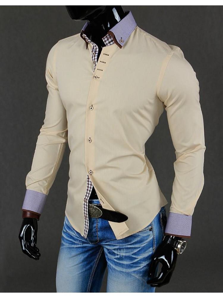 Marškiniai Benediktas (Smėlio spalvos)