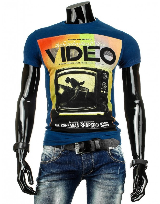 Marškinėliai Video (Mėlyni)