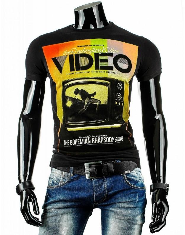 Marškinėliai Video (Juodi)
