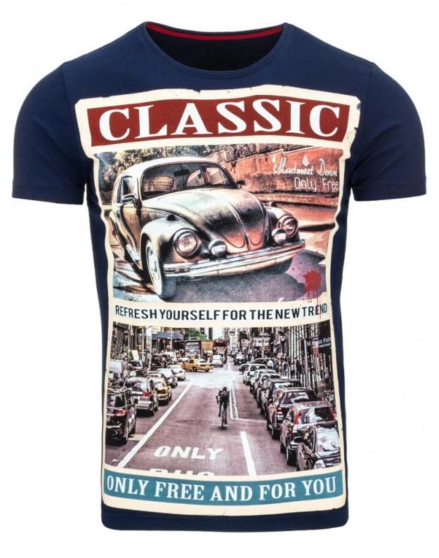 Marškinėliai Classic (Mėlyni)