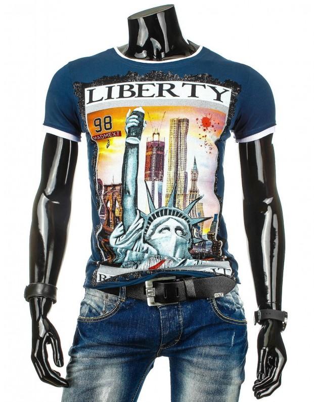 Marškinėliai Liberty (Tamsiai mėlyni)