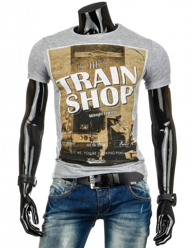 Marškinėliai Train (Pilki)