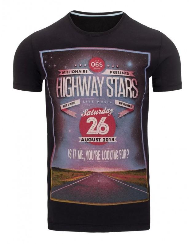 Marškinėliai Highways (Juodi)