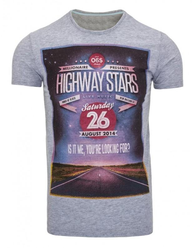 Marškinėliai Highways (Pilki)