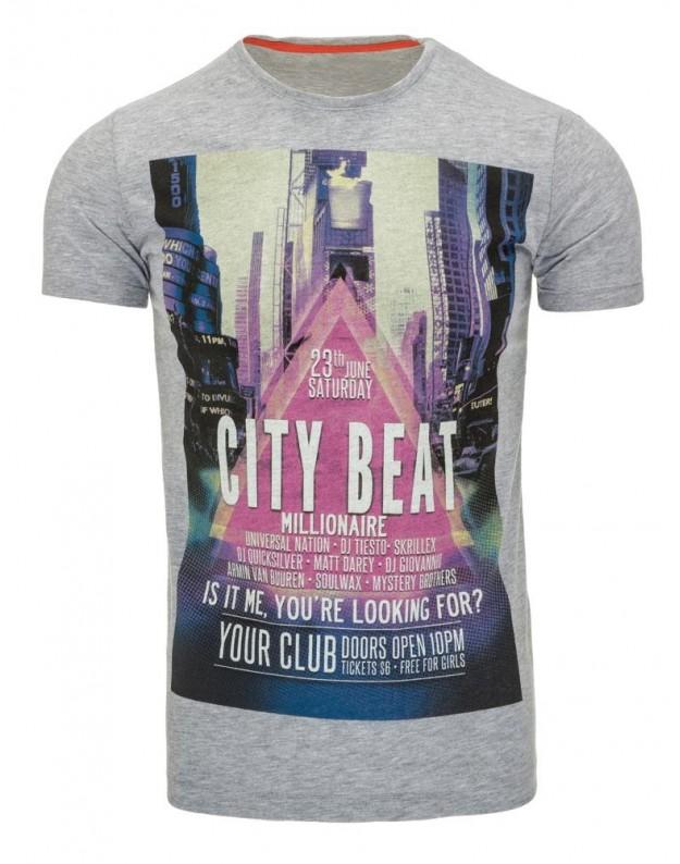 Marškinėliai City Beat (Pilki)