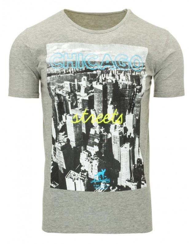 Marškinėliai Chicago (Pilki)
