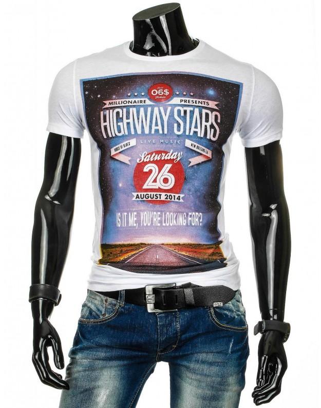 Marškinėliai Highways (Balti)