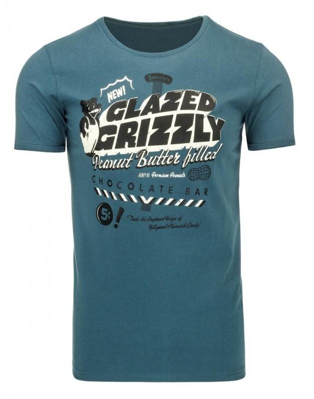 Marškinėliai Grizzly (Jūros spalva)