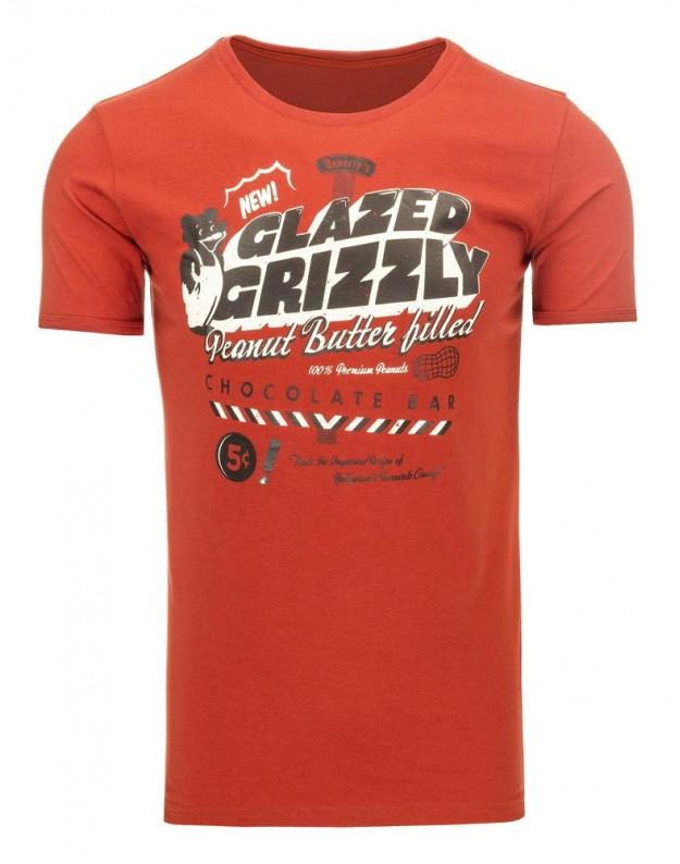 Marškinėliai Grizzly (Raudoni)