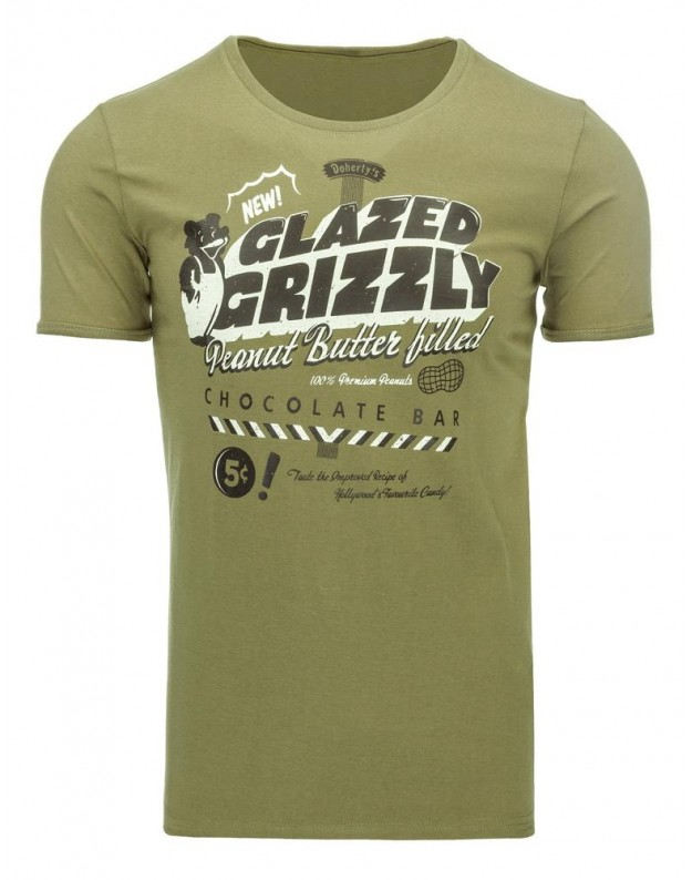 Marškinėliai Grizzly (Chaki)