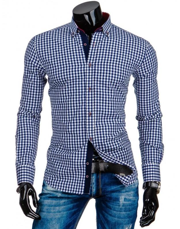Marškiniai Gytis (Balta-Mėlyna)