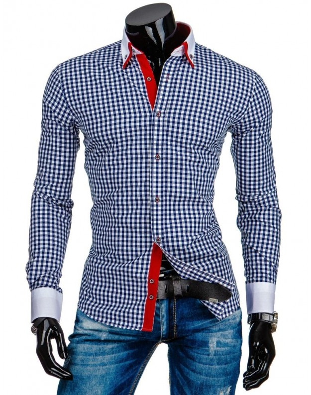 Marškiniai Aistis (Balta-Mėlyna)