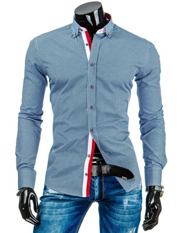 Marškiniai Eimantas (Balta-Mėlyni)