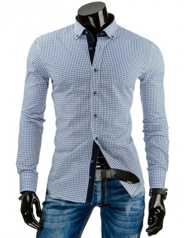 Marškiniai Laurynas (Balta-Mėlyna)