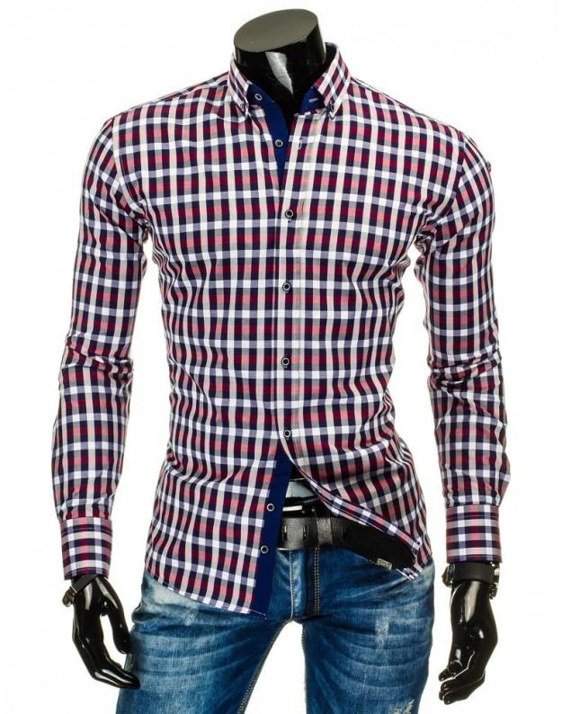 Marškiniai Matas (Mėlyni-Raudoni)