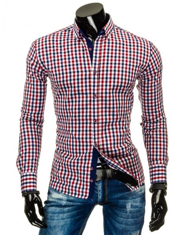 Marškiniai Rimvydas (Mėlyna-Bordinė)
