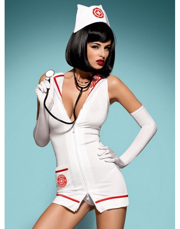 Gydytojos kostiumas su stetoskopu