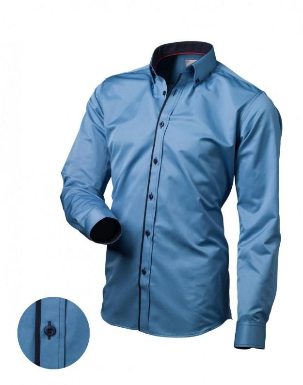 Vyriški medvilniniai marškiniai (Mėlyna)