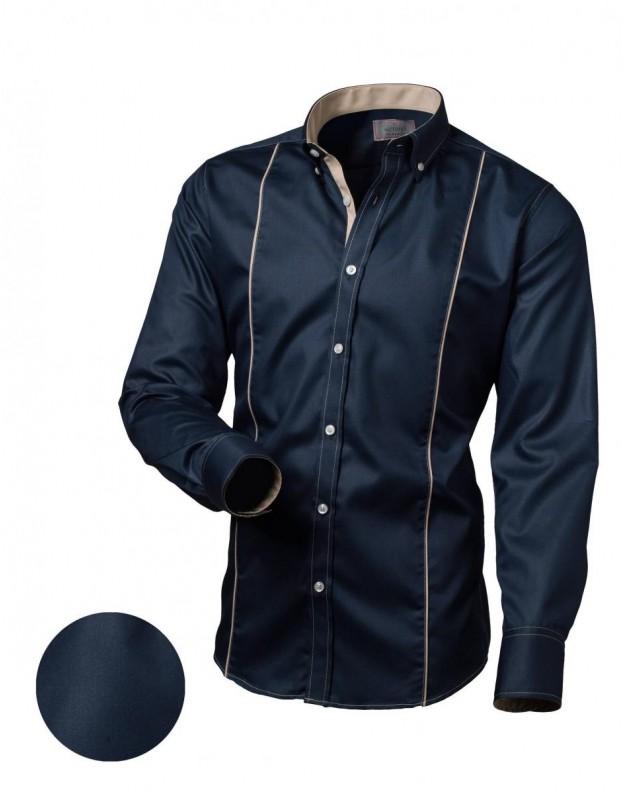Medvilniniai marškiniai (Tamsiai mėlyna)