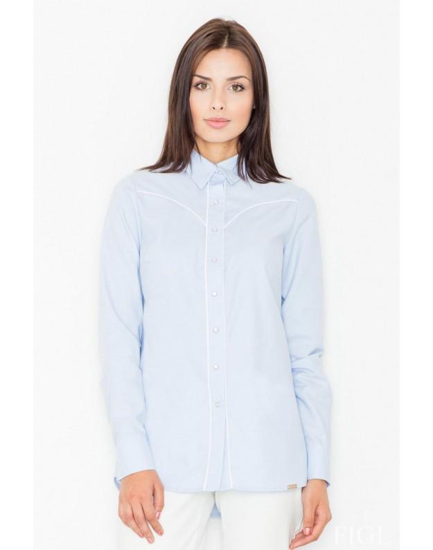 Marškinėliai Marietė (Žydra)