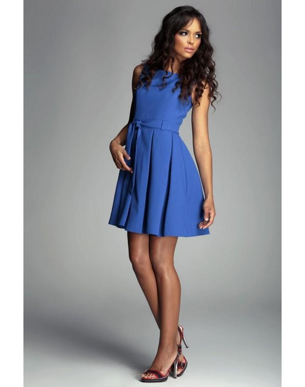 Žavi suknelė su klostėmis (Žydra)