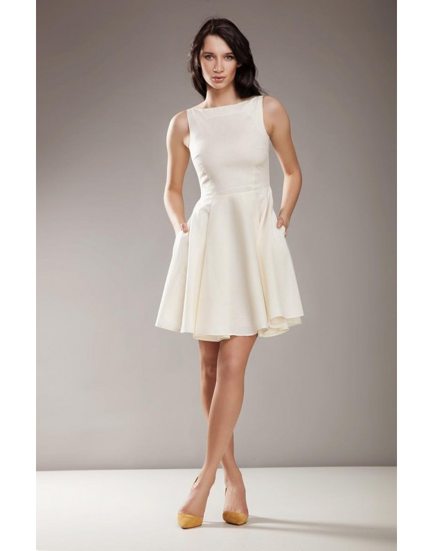 """Stilinga suknelė """"Audra"""" (Kreminė)"""