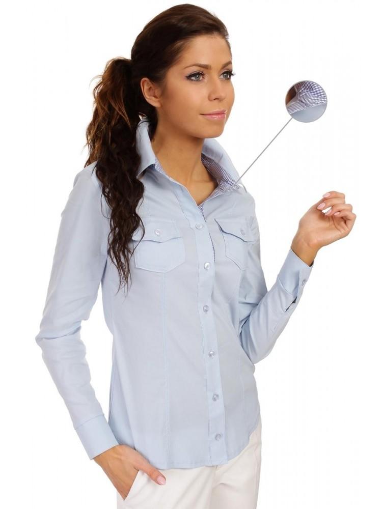 """Moteriški marškinėliai """"Karolina"""" (Melsvi)"""