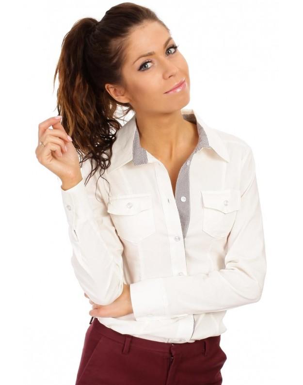 """Moteriški marškinėliai """"Karolina"""" (Nebalintos drobės spalva)"""