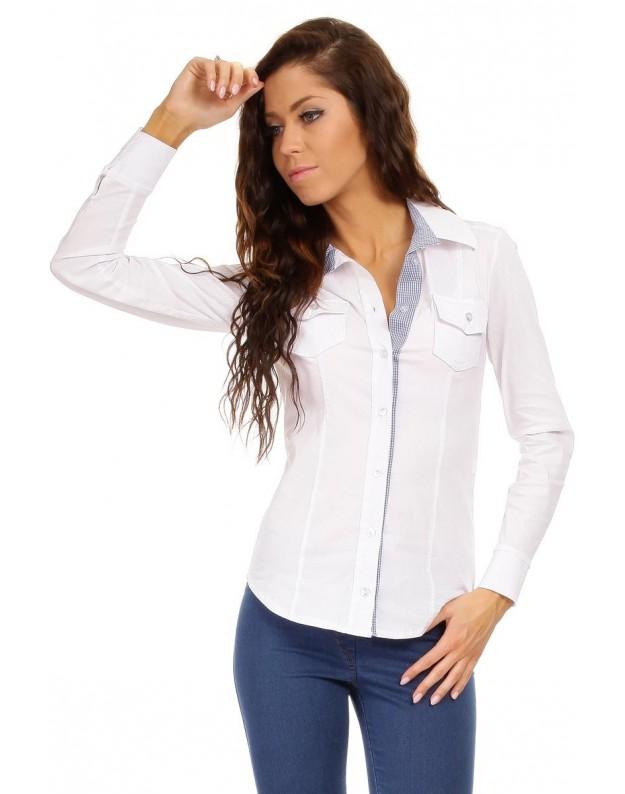 """Moteriški marškinėliai """"Karolina"""" (Balti)"""